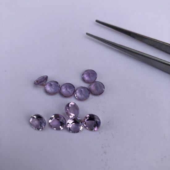 6mm Natural Amethyst Round Cut Gemstone