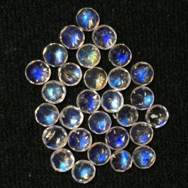 4mm rainbow moonstone round cut