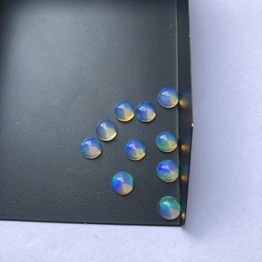 6mm Natural Ethiopian Opal Smooth Round Cabochon
