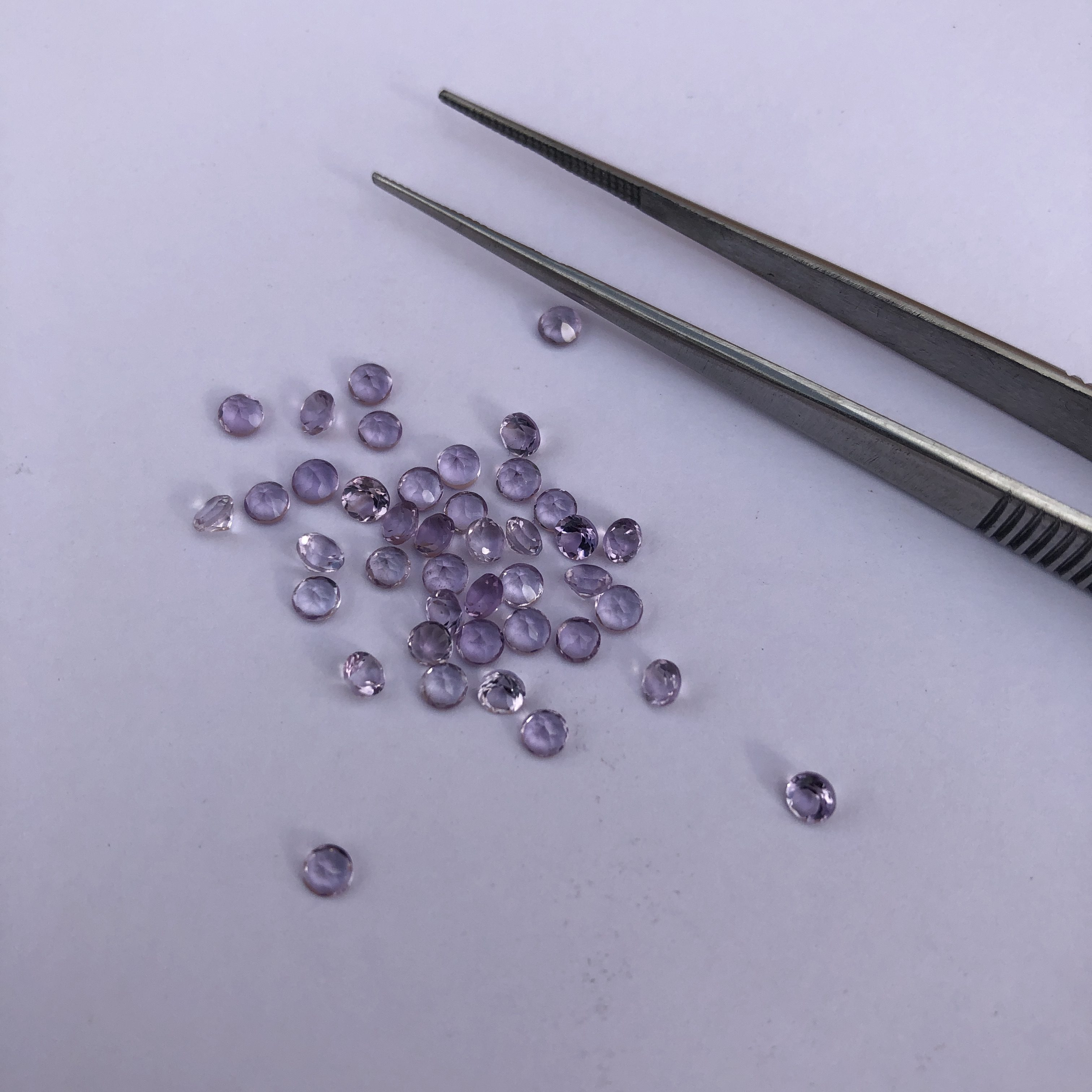 2mm Natural Amethyst Faceted Round Cut Gemstone | FREE SHIPPING