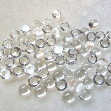 2mm crystal quartz round