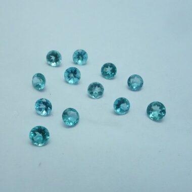 4mm blue apatite round cut