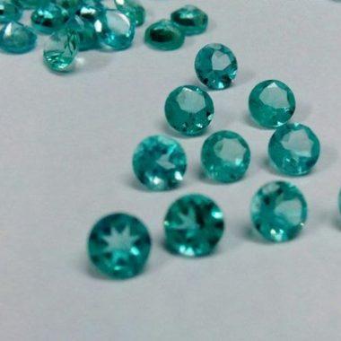6mm blue apatite round cut