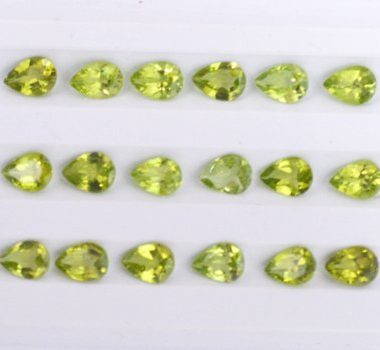 6x8mm peridot pear cut