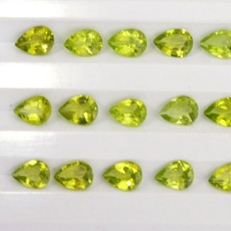 7x5mm peridot pear cut