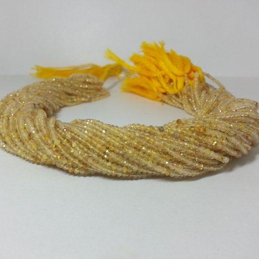 2mm golden rutile beads