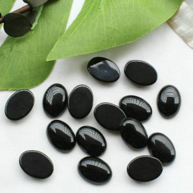 3x4mm black spinel oval