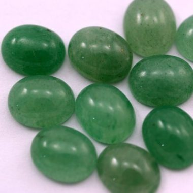 7x9mm green aventurine oval