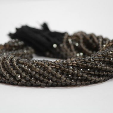 4mm smoky quartz beads