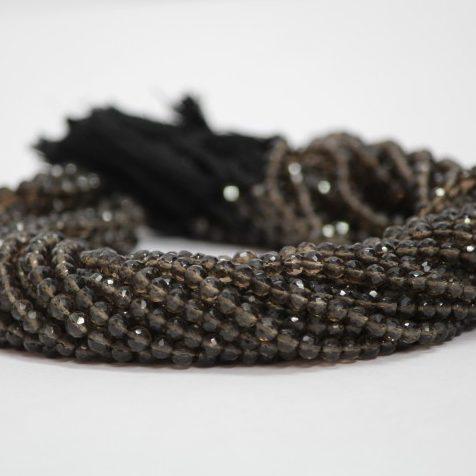 4mm smoky quartz beads