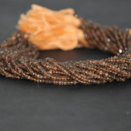andalusite garnet faceted beads