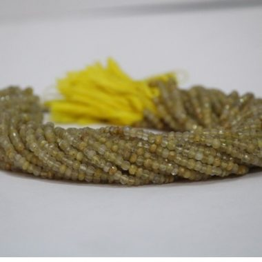 golden rutile faceted beads