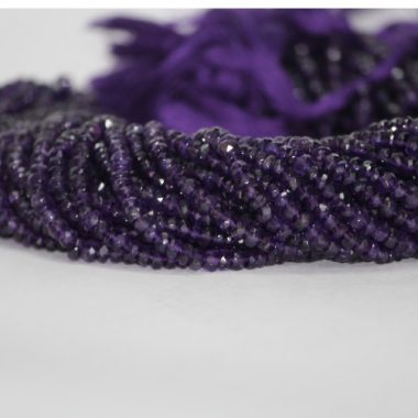 4mm african amethyst faceted beads