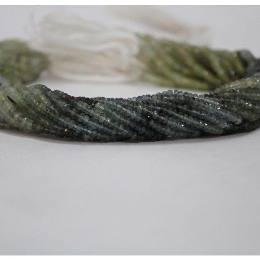 moss aquamarine faceted beads