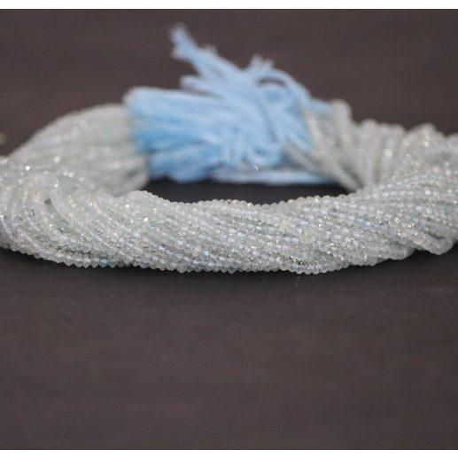 blue aquamarine faceted beads