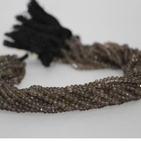 smoky quartz faceted beads