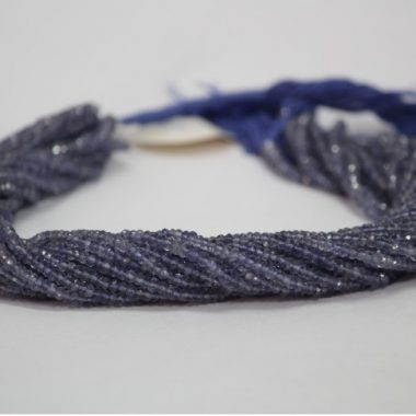 iolite faceted beads
