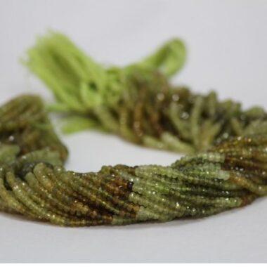 grossular garnet faceted beads