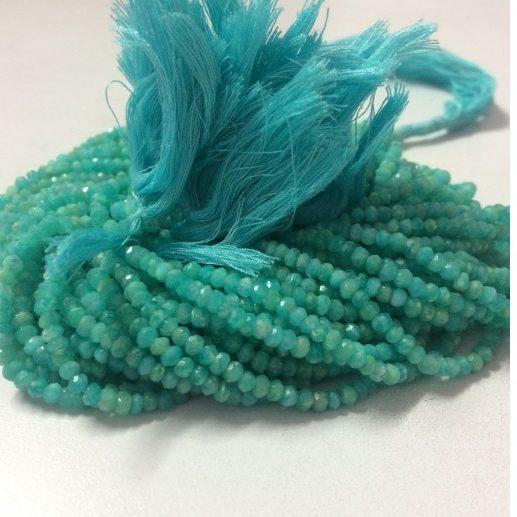 "1 Strand Natural Chrysoprase Rondelle 4-4.5mm Gemstone Beads 13/""inch"