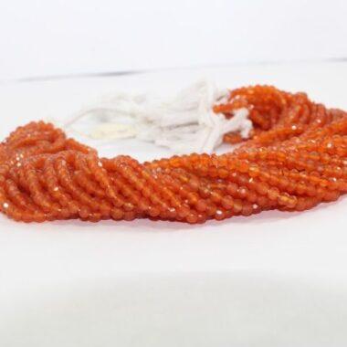 4mm carnelian beads