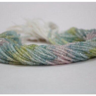 multi aquamarine faceted beads