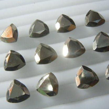 4mm pyrite trillion cut