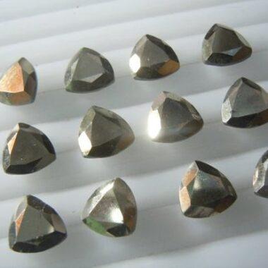 5mm pyrite trillion cut