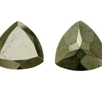 7mm pyrite trillion cut