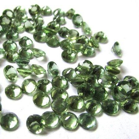 2mm green apatite round cut