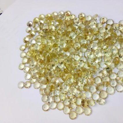 2mm lemon quartz round cut