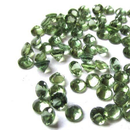 3mm green apatite round cut