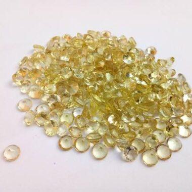 3mm lemon quartz round cut