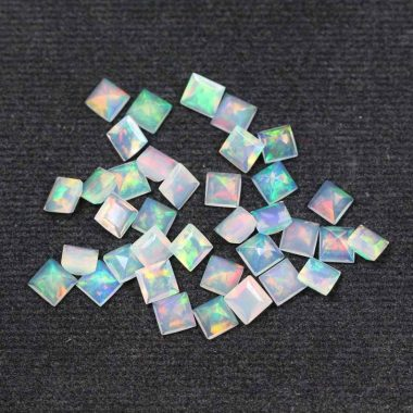 4mm ethiopian opal square cut