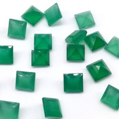 4mm green onyx princess cut
