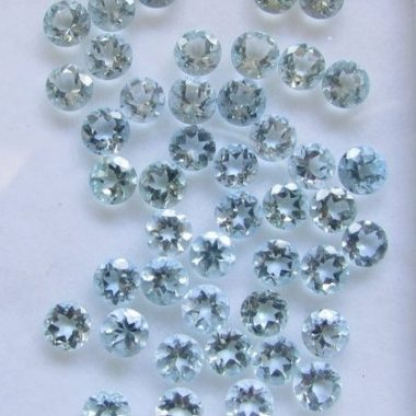 5mm aquamarine round cut