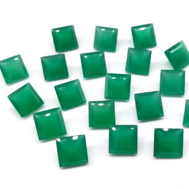 5mm green onyx square cut