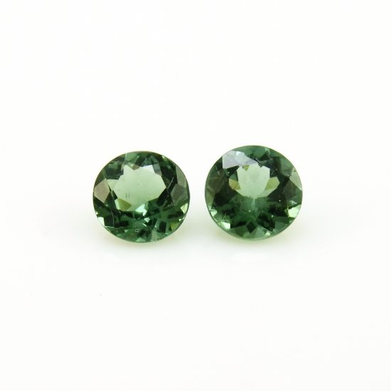 6mm green apatite round cut