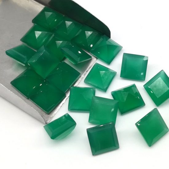 6mm green onyx square cut