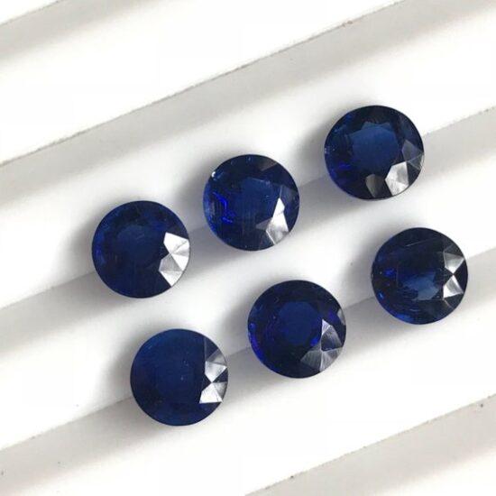 6mm kyanite round cut
