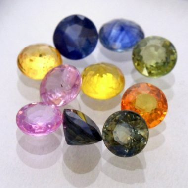 5mm multi sapphire round cut