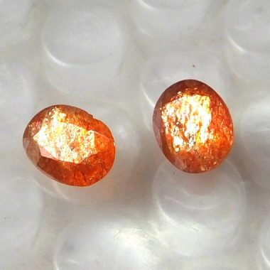 14x10mm Natural Sunstone Oval Faceted Cut Gemstone