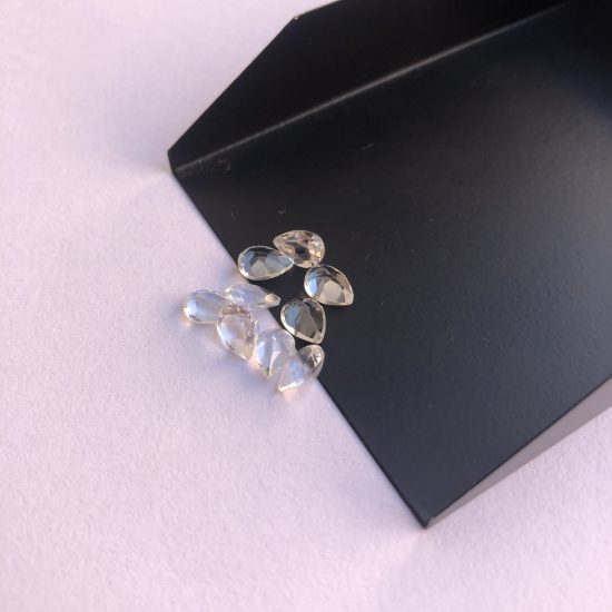 4x5mm crystal quartz pear cut