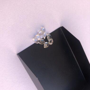 3x5mm crystal quartz pear cut