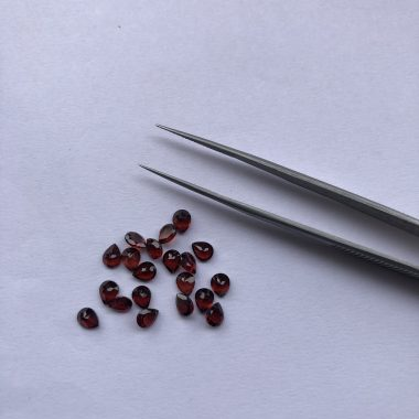 3x4mm red garnet pear cut