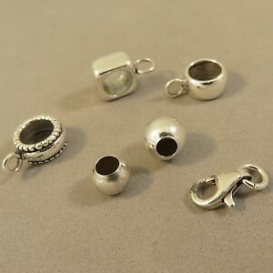 925 Sterling Silver Beads, Clasps, Findings & Charms