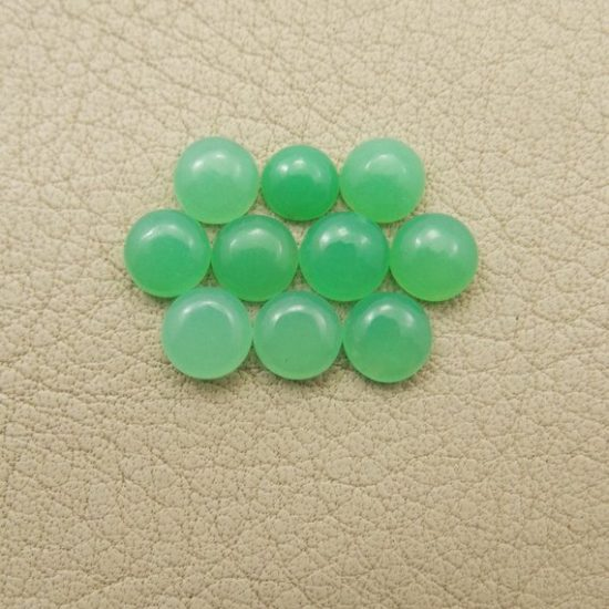 Natural Chrysoprase Smooth Round Cabochon
