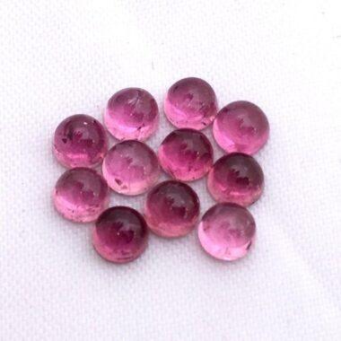 pink tourmaline round cabochon