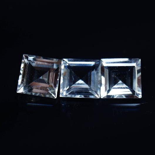Natural Crystal Quartz Square Gemstone