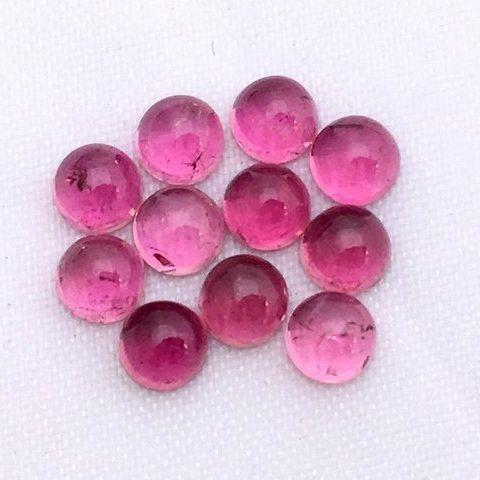 pink tourmaline round