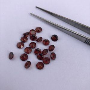 red garnet gemstone